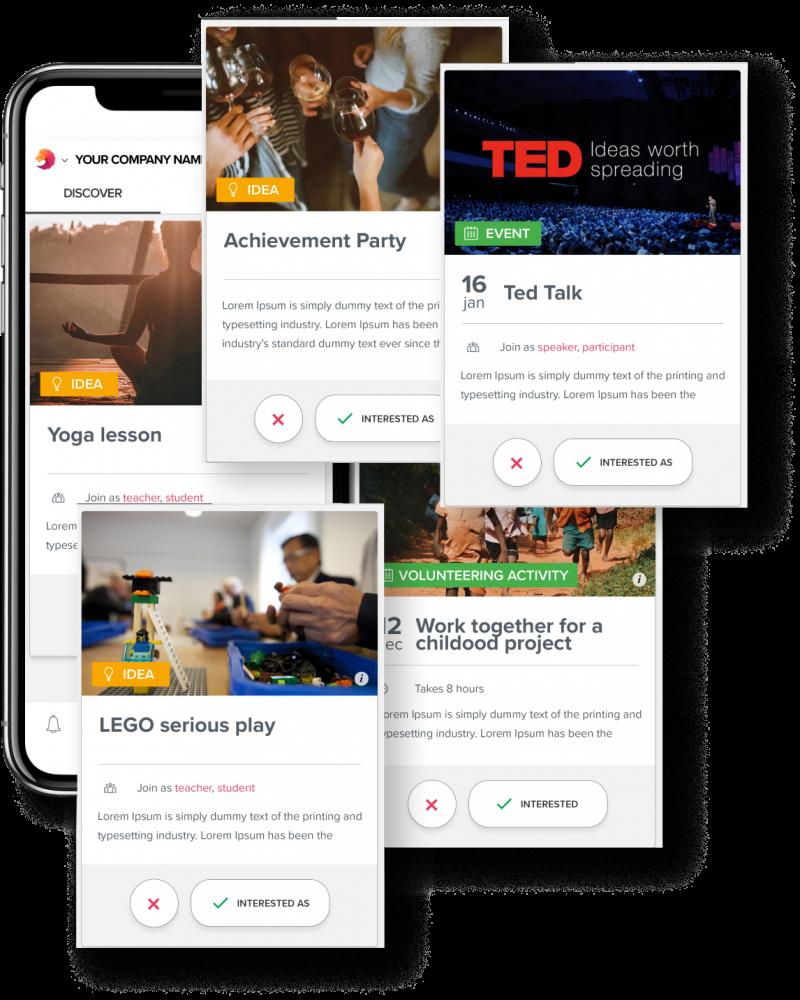 Social organizing app